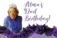 Alma's 92nd Birthday